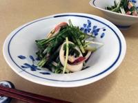 イカと水菜の酢味噌和えb